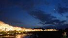 米原市で桜のライトアップがあり夜桜が楽しめる「新庄の桜並木」